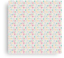 Panda Party Pattern Collection - Happy Birthday Canvas Print