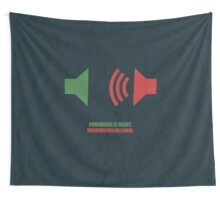 Confidence Is Silent, Insecurities Are Loud - Corporate Start-up Quotes Wall Tapestry