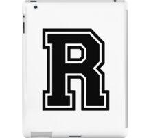 "Letter ""R""  - Varsity / Collegiate Font - Black Print iPad Case/Skin"