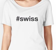 SWISS Women's Relaxed Fit T-Shirt