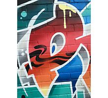 Crazee Cats Graffiti: The Big P Photographic Print
