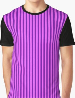 Pink and Purple Striped Dress Graphic T-Shirt