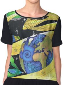 From the Earth to the Moon Chiffon Top