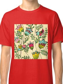Cute Colorful Birds Classic T-Shirt