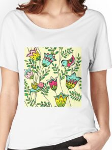 Cute Colorful Birds Women's Relaxed Fit T-Shirt