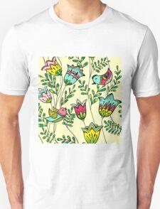 Cute Colorful Birds Unisex T-Shirt