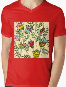 Cute Colorful Birds Mens V-Neck T-Shirt