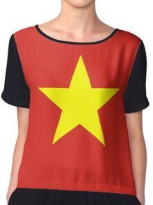 I Love Vietnam - Flag Vietnamese Sticker T-Shirt Duvet Chiffon Top