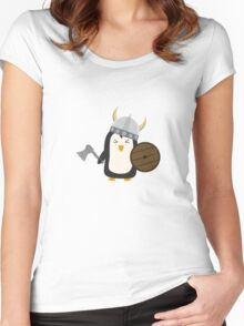 Penguin Viking   Women's Fitted Scoop T-Shirt