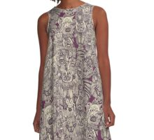 gargoyles purple A-Line Dress
