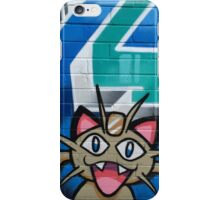Crazee Cats Graffiti: Meowth iPhone Case/Skin
