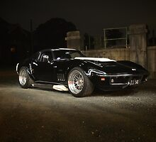 The Light shines on my Vette by Andrew Felton