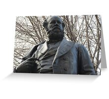 Crowther Statue, Franklin Square Greeting Card