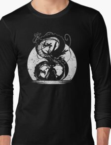 Silhouette of Dragon Ball Long Sleeve T-Shirt