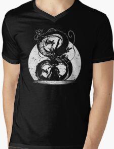 Silhouette of Dragon Ball Mens V-Neck T-Shirt