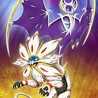 Pokemon - Solgaleo and Lunala by Skudde