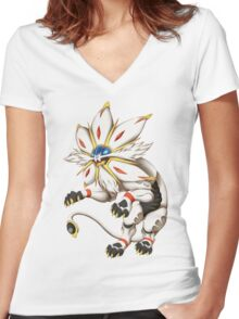 Pokemon - Solgaleo Women's Fitted V-Neck T-Shirt
