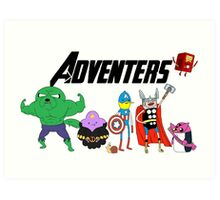 Aventers (Adventure time Avengers) Art Print