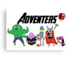 Aventers (Adventure time Avengers) Canvas Print