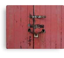 Old faded wooden doors Canvas Print