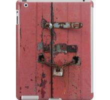 Old faded wooden doors iPad Case/Skin