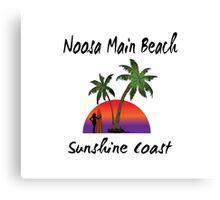 Noosa Main Beach Sunshine Coast Canvas Print