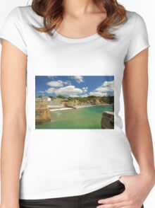Charlestown Beach and Cliffs Women's Fitted Scoop T-Shirt