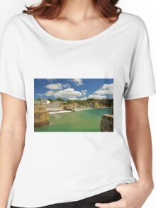 Charlestown Beach and Cliffs Women's Relaxed Fit T-Shirt
