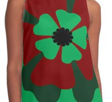 Green Flower 1 Contrast Tank