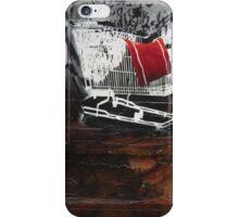 graffiti - stencil shopping trolley iPhone Case/Skin