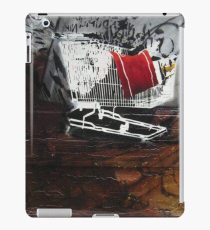 graffiti - stencil shopping trolley iPad Case/Skin