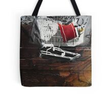 graffiti - stencil shopping trolley Tote Bag