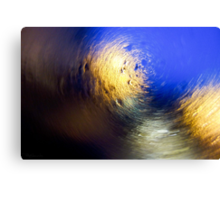 Condensation 34 - Vortex | Blue Canvas Print