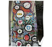 very colourful graffiti icons Poster