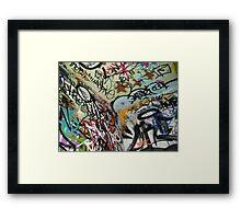 graffiti from all angles Framed Print
