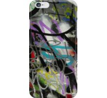 colourful graffiti with a face iPhone Case/Skin