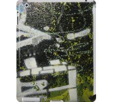 graffiti yellow white lines iPad Case/Skin