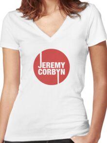 Jeremy Corbyn Women's Fitted V-Neck T-Shirt