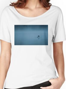 Common loon in blue fog Women's Relaxed Fit T-Shirt