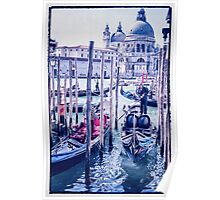 Venice shades of blue  Poster