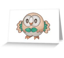 Cute Rowlet Greeting Card