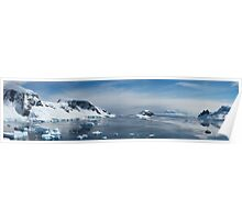 Panorama of Wilhelmina Bay, Antarctica,  Poster