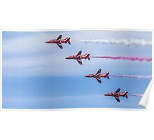 Red Arrows in Flight Poster