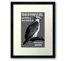Hunt and shoot with a camera Framed Print