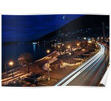 Winter in Tegernsee, Germany. Night shot Poster