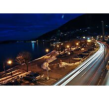 Winter in Tegernsee, Germany. Night shot Photographic Print