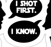 i shot first Sticker