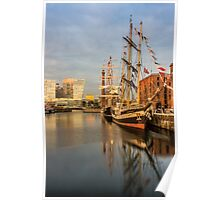 Pelican and Mercedes tall ships Poster