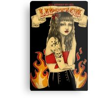 Not without my red lipstick Metal Print