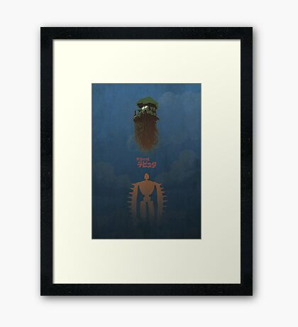 Ghibli Minimalist 'Laputa: Castle in the Sky' Framed Print